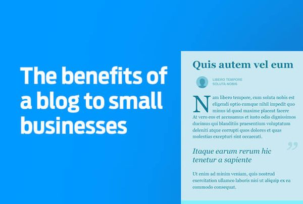 6 benefits of a small business blog