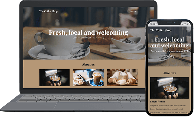 Website builder coffee theme