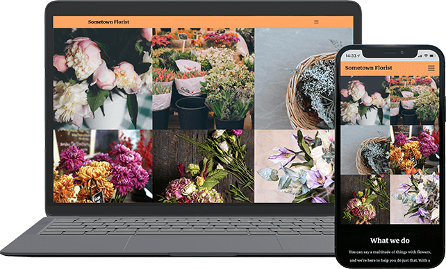 Website builder flower theme