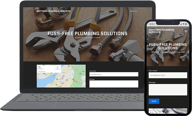 Website builder plumbing theme