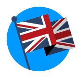 Icon of Union Jack flag