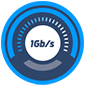 1Gb/s Bandwidth High Performance